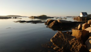 Deer Isle's rocky coast.