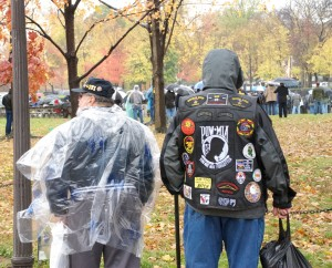 Veterans at a Veterans Day Ceremony at the Viet Nam Memorial, Washington, D.C.