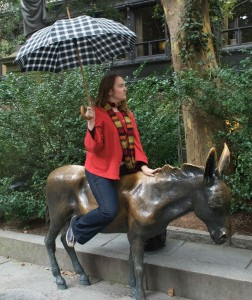 Many people have taken a ride on this donkey, I know. But how many have done it in the rain, sober? Finally, I feel original.