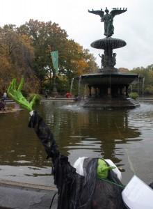 Scarecrow contest, Central Park.