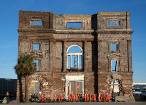 All that's left of an old factory. Charleston, S.C.