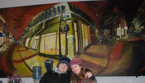 """When someone grabs you and says, """"Let's take a picture in front of this painting,"""" sometimes you do. Charleston, S.C."""
