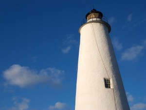 Ocracoke's lighthouse. Yes, that's an extension cord.