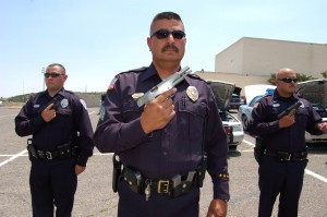 Police inspection in Silver City, N.M. The Silver City Daily Press.