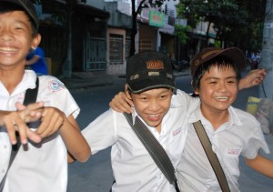 These kids looked like they were having a good time in Hoi An.