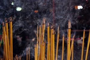 Incense at a pagoda.